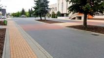 <h5>Roboty drogowe</h5><p>Przejście dla pieszych wyniesione — element uspokojenia ruchu</p>